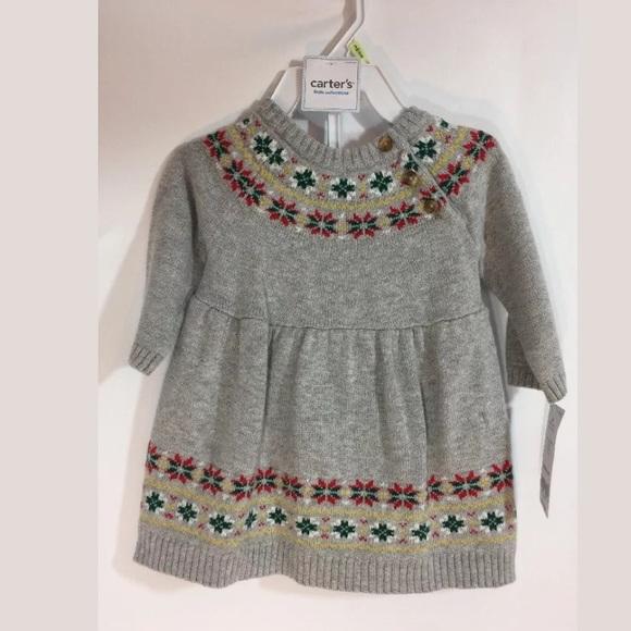 20be23c4f Carter's Dresses | Carters Holiday Sweater Dress Sz 3m Nwt | Poshmark